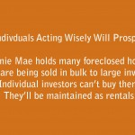 Fannie Mae's Foreclosures: Bad News for Solo Investors