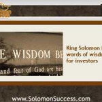 5 Words of Investing Wisdom From King Solomon