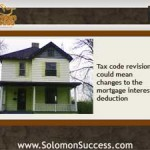 Tax Law Changes Tackle the Mortgage Interest Deduction