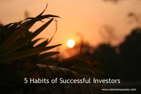 Five habits of succssful investors